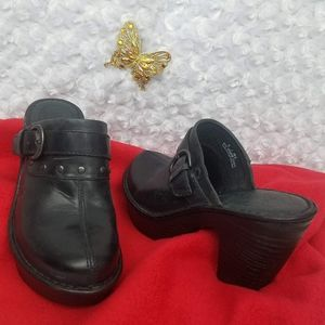 Born Brand Black clogs Sz 8